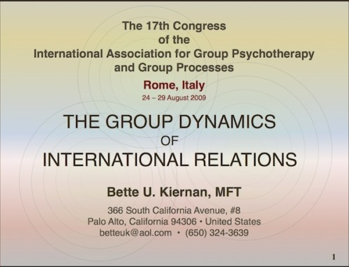 The Group Dynamics of International Relations